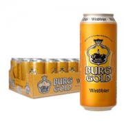BURGGOLD 金城堡 小麦啤酒 500ml 24听