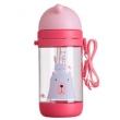 rikang 日康 晶透系列 儿童水杯 吸管杯 粉色 450ml *2件 66.8元(合33.4元/件)66.8元(合33.4元/件)
