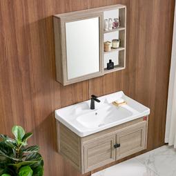 DKNA 丹拿卫浴 浴室柜镜柜组合套装 含陶瓷面盆 800mm  669元包邮