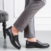 意尔康 男士一脚蹬皮鞋
