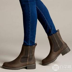 限UK4.5码,Clarks 其乐 Orinoco Club 女士真皮短靴 Prime会员凑单免费直邮含税