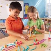Learning Resources 海洋和几何构建组合套装 抽插式拼接玩具 Prime会员免费直邮