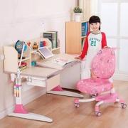 心家宜 M104 +M200 加大桌面 手摇机械升降儿童学习桌椅套装 两色