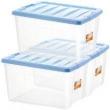 20日0点: JEKO&JEKO 塑料透明收纳箱 56L 3只装 蓝色 +凑单品99元包邮(合30元/个)
