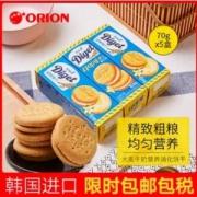 rion 好丽友 韩国原装进口大麦消化饼干70g*5盒