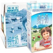 LVLINB 绿林贝 超高温灭菌 脱脂纯牛奶 1L*6盒