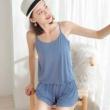 敏莲 女士吊带短裤睡衣19.9元包邮(双重优惠)