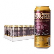 Brouczech 布鲁杰克 黑啤酒 500ml*24听 *2件