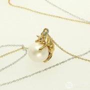 Vendome Boutique 旺多姆 女士猫咪珍珠项链VBTP220355D Prime会员免费直邮含税