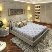 AIRLAND 雅兰 圣菲卧室套餐 真皮软床+乳胶床垫 180  4549元包邮