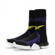 Vetements × Reebok 锐步联名款 Logo嵌花袜套型运动鞋2009元包邮