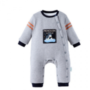 PurCotton 全棉时代 婴儿针织微厚斜襟连体衣  128元包邮