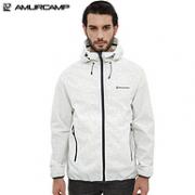230g+防水10000+防污+防晒50:Amurcamp  男士超轻冲锋衣
