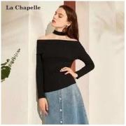 La Chapelle 拉夏贝尔 针织一字领上衣 33.8元包邮