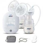 AVENT 新安怡 自然系列 SCF303 电动双边吸奶器 送消毒锅+湿巾+安抚奶嘴