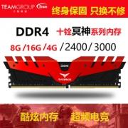 Team 十铨 冥神 DDR4 3000MHz 8GB 台式机内存条 289元包邮¥162