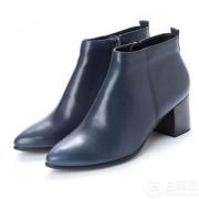 ECCO 爱步 Shape 45型塑系列 女士侧拉链真皮裸靴 $80.99