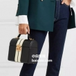 意大利产,Mark Cross Sara系列 金属扣饰条纹拼色单肩包10430元包邮