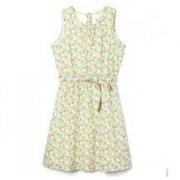 22日10点: GAP 盖璞 336459 儿童纯棉花卉图案连衣裙49.6元