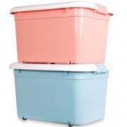 尚洁 塑料收纳箱 100L 2个装 珊瑚蓝+樱花粉 *2件 167.2元包邮(2件9.5折,合83.6元/件)