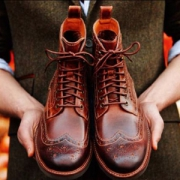限UK7.5码,Clarks 其乐 Montacute Lord 男士烤花系带短靴 Prime会员免费直邮含税