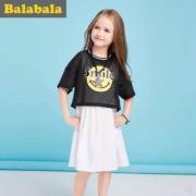 巴拉巴拉 女童中大童两件套半袖连衣裙¥59