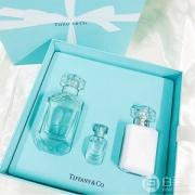 TIFFANY & CO. 蒂芙尼 同名淡香水礼盒(香水75ml+Q版香水5ml+身体乳100ml )