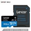Lexar 雷克沙 633x MicroSDXC UHS-I U3 A2 TF存储卡 512GB 548.9元包邮548.9元包邮
