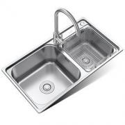 MICOE 四季沐歌 M-B2005(78)-H 304不锈钢厨房水槽双槽套装 398元包邮