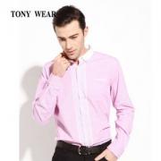 Tony Wear 汤尼威尔 男士纯棉撞色长袖衬衫 2色