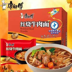 康师傅 红烧牛肉方便面  24包
