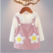 HUBB DOOK 2019新款女童背带裙两件套 2色