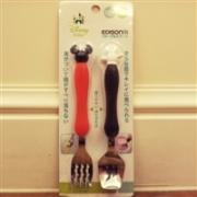 KJC Edison卡通叉勺套装(米奇米妮) 两色可选特价714日元(约43元)