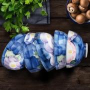 Mino Yaki 美浓烧 山茶系列 手绘饭碗 4.5英寸*5头 *  272.9元包邮272.9元包邮