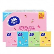 Vinda 维达 Feel系列 手帕纸 4层*5张*24包 *3件14.89元(合4.96元/件)
