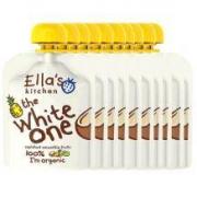 Ella's kitchen 艾拉厨房 有机水果果泥 白色果泥10袋装 *2件159元包税包邮(合7.95元/袋)
