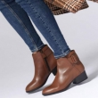 限US5码,Clarks 其乐  Elvina Dream 女士时尚侧拉链粗跟踝靴 Prime会员免费直邮含税到手387.78元