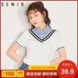 Semir 森马 14-997070264 女士学院风短袖两件套  券后39.9元包邮¥40
