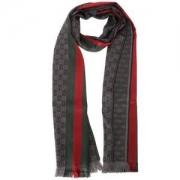 GUCCI 古驰 147351 4G704 1166 LOGO底纹羊毛加丝 男士围巾