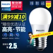 ¥1.5 Philips 飞利浦 LED灯泡 E27¥2