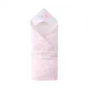 PurCotton 全棉时代 婴儿纱布夹薄涤抱被 90*90cm  树叶小兔 1条装