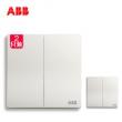ABB开关插座无框轩致雅典白86型开关面板二开单控套装AF122*2只装  券后39.2元¥39