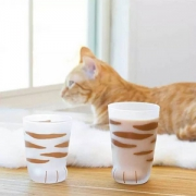 Aderia 石塚硝子 Coconeco创意磨砂牛奶玻璃杯猫爪杯300ml Prime会员凑单免费直邮含税
