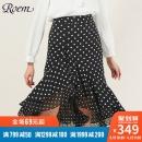 Roem2019春季新款女士时尚设计修身半身裙中长款淑女裙RCWH96402B 329元¥329