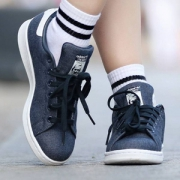 Adidas 阿迪达斯 STAN SMITH DENIM 中性休闲板鞋 BY9190
