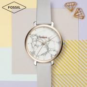 Fossil杨紫明星同款简约清新牛皮表带石英女士手表女ES4377 725元