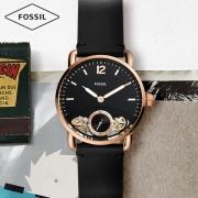 Fossil2019新款复古经典潮流休闲皮表带男士自动机械表ME1167 1039元