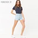 Forever 21 00262439 女士高腰牛仔短裤¥60
