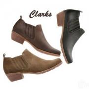 限US5.5码,Clarks 其乐 Wilrose Jade 女士真皮粗跟及踝靴 Prime会员免费直邮含税