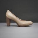 Prime会员专享,ECCO 爱步 雕塑75 女士真皮粗跟单鞋 国内¥1598563元包邮